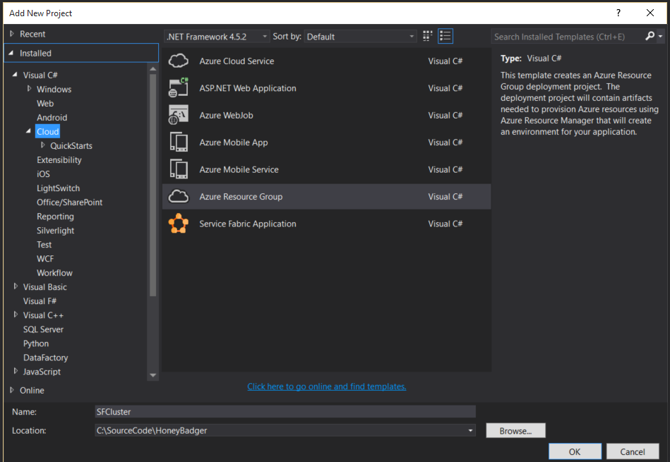 Azure Service Fabric Setting Up Your Cluster