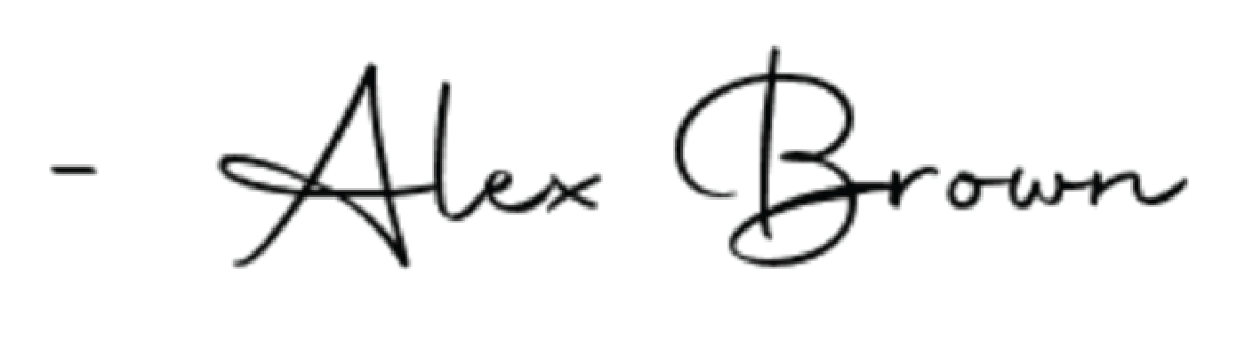 Alex Brown signature